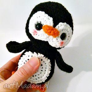 ręcznie zrobione maskotki pingwinek pim pom