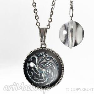 dwustronny kulisty medalion gra o tron - 0240-51sps, gra, tron, wilkor, smoki, stark