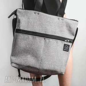 Szara torba na ramię, szara-torba, torba-do-pracy, torba-z-paskiem, torba-na-zamek
