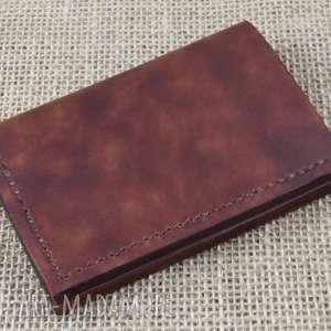 Portfel na karty z miejscem gotówkę portfele bruno leatherworks