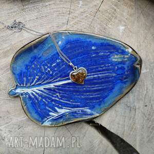 ceramika ceramiczny talerzyk liść c274, talerzyk, liść, biala szałwia