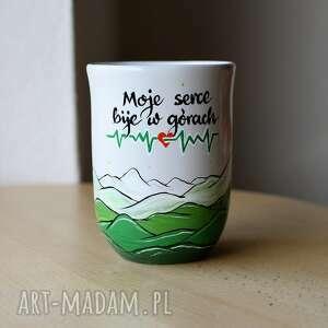 hand-made kubki kubek ceramiczny ręcznie malowany góry