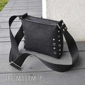 Mała torebka filcowa - czarna mini beltrani torebka, filcowa,