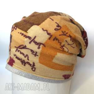 czapka damska dzianina kolorowa miękka - czapka, wełna, wzory, dzianina, etno