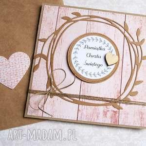 ręcznie wykonane kartki pamiątka chrztu świętego: kartka handmade