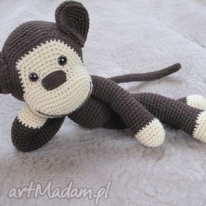 maskotki duza przytulanka małpka, duża, przytulanka, maskotka, małpa