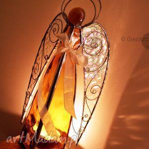 witraże anioł lampion witrażowy aureus, aniołek, anioł, lampion, witraż, prezent