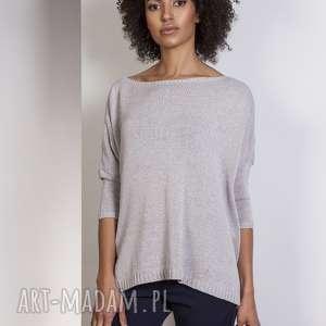 ręczne wykonanie swetry sweter oversize, swe114 szary