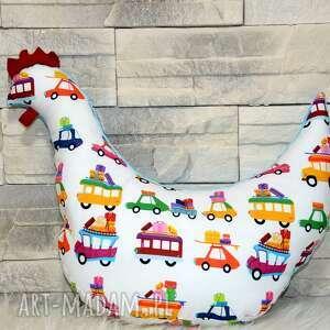 pokoik dziecka poduszka kura bajkowe pojazdy, poduszka, turystyczna, kura, minky