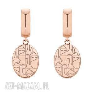 kolczyki z różowego złota art n°1 - różowe kolczyki