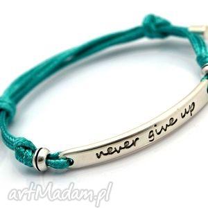 Bransoletka regulowana preemi motto 1 turquoise beezoo sznurek