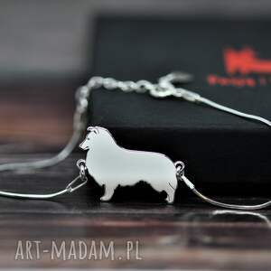 owczarek szetlandzki / sheltie - bransoletka srebrna pr 925, pies