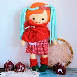 cukierkowa lalka gloria 43 cm - wersja zimowa, lalka, szmacianka, kolorowa