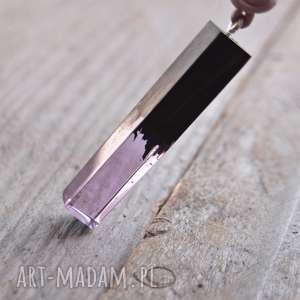naszyjnik z Żywicy i drewna - żywica, wisior, drewno, naszyjnik, zawieszka