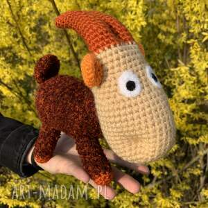ręcznie wykonane zabawki koziołek meelek - szydełkowa maskotka