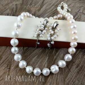 perłowy komplet klasyka, klasyczny, perły, perłowy
