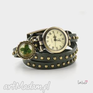 handmade skórzany zegarek-bransoletka lucky