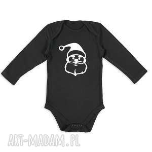handmade pomysł na prezent body dla noworodka z mikołajem