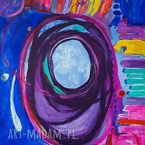 alien obraz akrylowy na płótnie 100x80cm artystki plastyka adriany laube