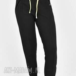 spodnie skinny gloria czarne, spodnie, spódnica, t shirt, sukienka