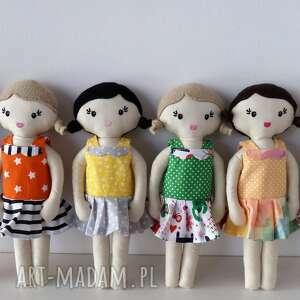 Mała lala - brązowe włosy, lala, lalka, szmacianka