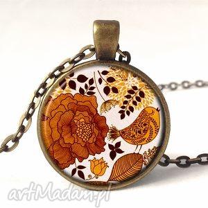 ręcznie zrobione naszyjniki retro style - medalion z łańcuszkiem