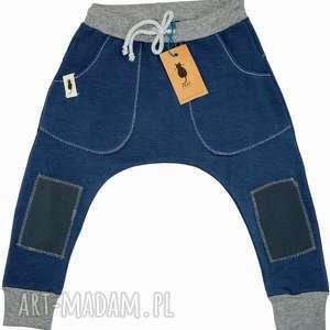 Spodnie baggy BLUE, spodnie, baggy, dziecko, wiosna, sznurek, łaty