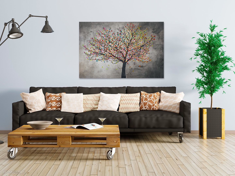 kolorowe obrazy liście obraz na płótnie - drzewo