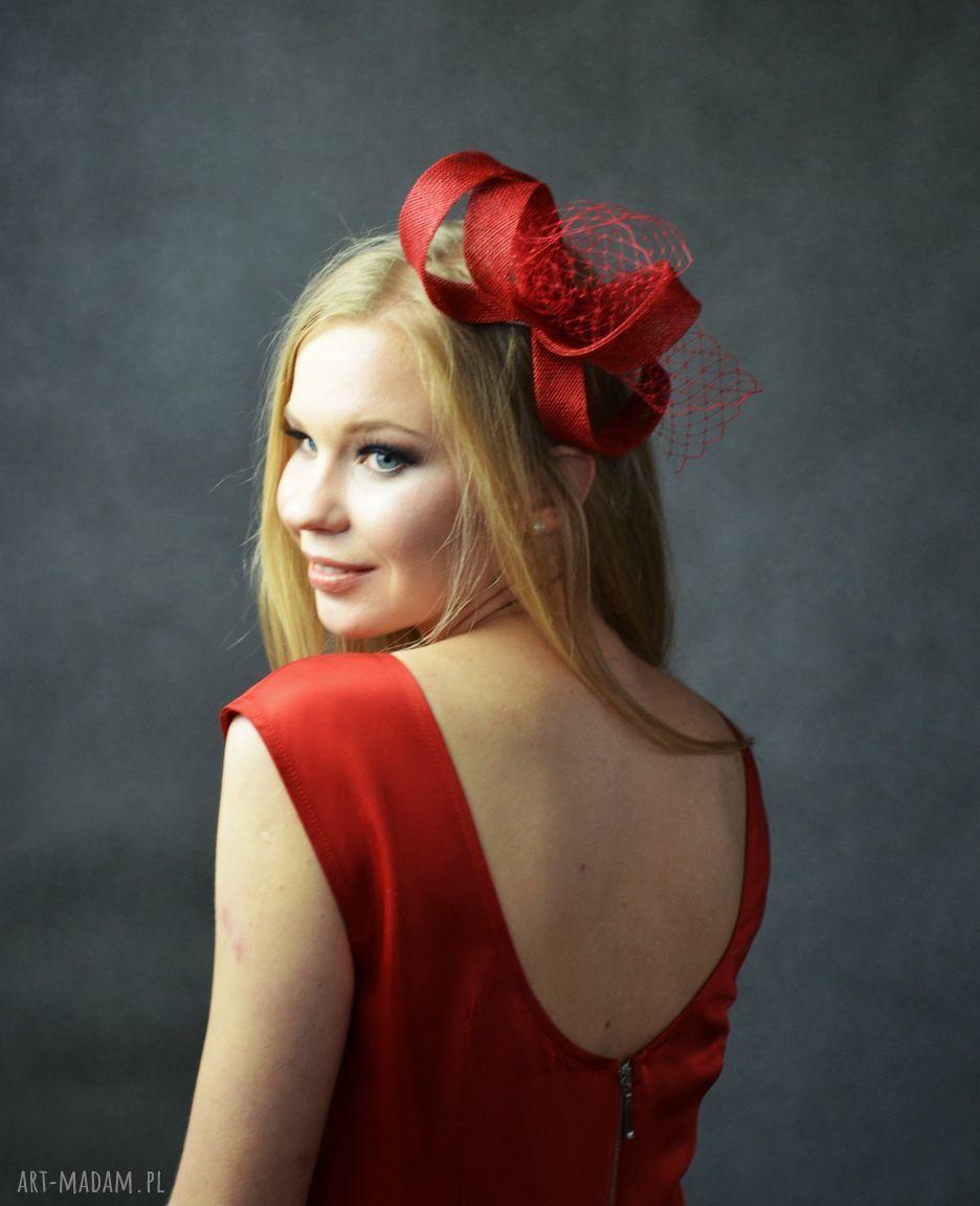 ręcznie zrobione ozdoby do włosów czerwony zawijas