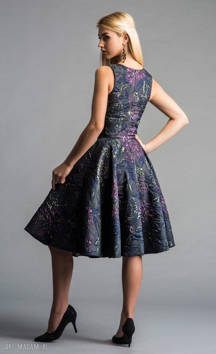 sylwestrowa sukienki fioletowe sukienka gina (koło) midi tiara