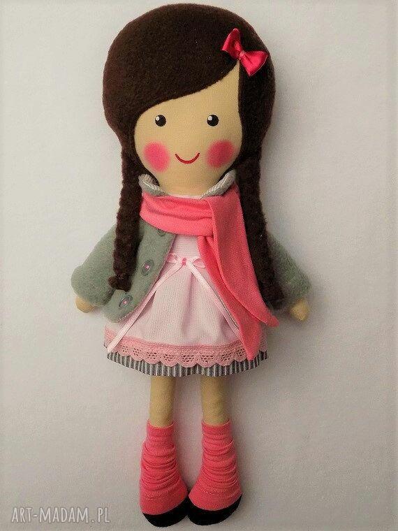 ręczne wykonanie lalki malowana lala wiki z szalikiem
