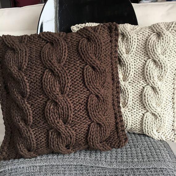 hand made poduszki poduszka ze sznurka bawełnianego