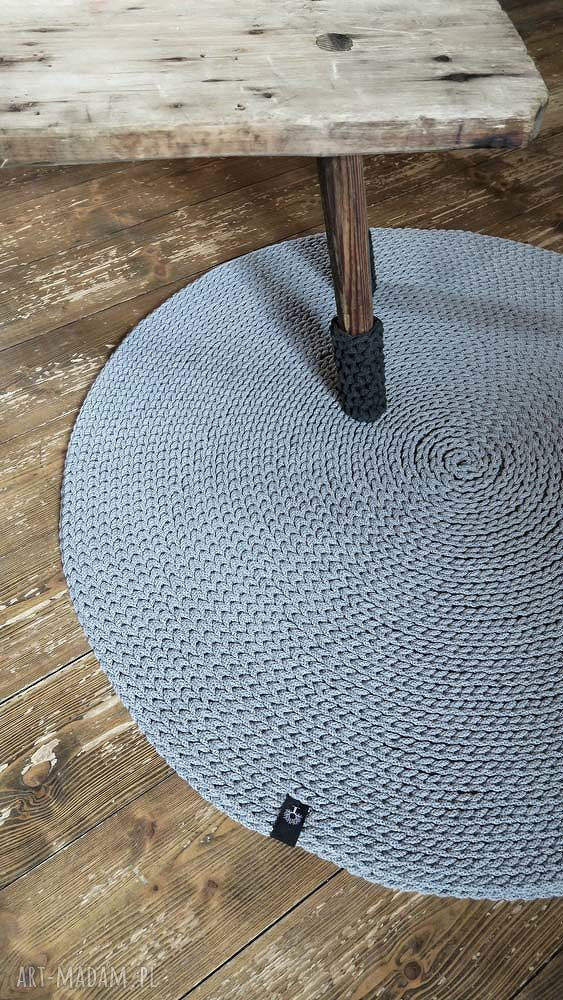 handmade dywany dywan okrągły ze sznurka 140 cm