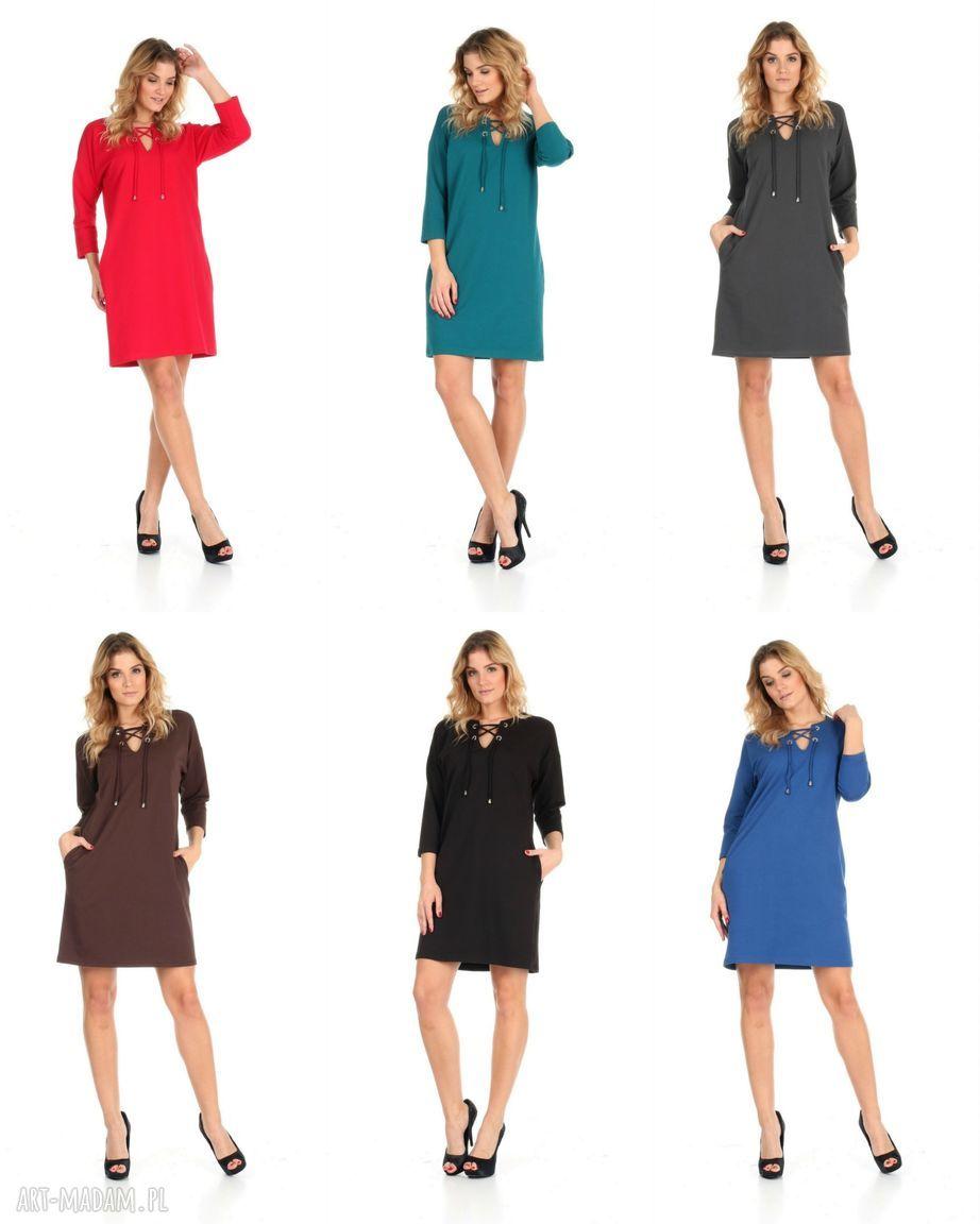 sukienka sukienki 46-sukienka sznurowany dekolt