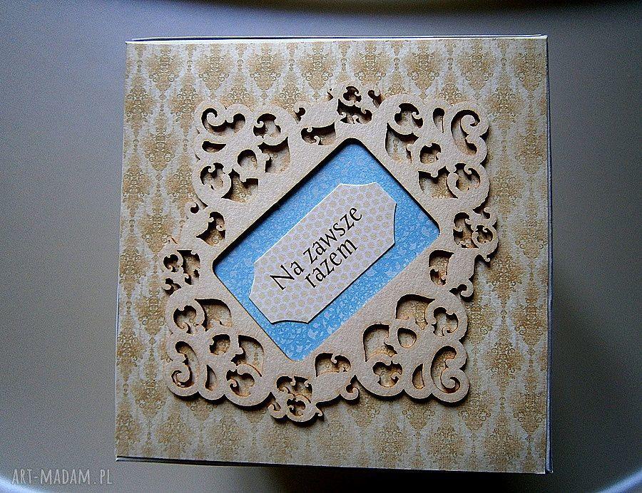 handmade ślub eksplodujące pudełko ślubne życzenia
