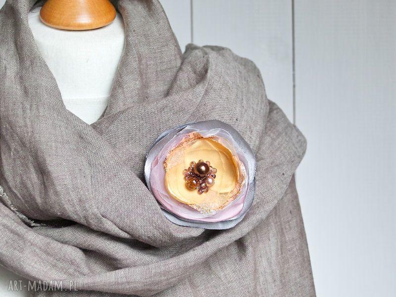 handmade broszki modna broszka kwiat, przypinka, prezent