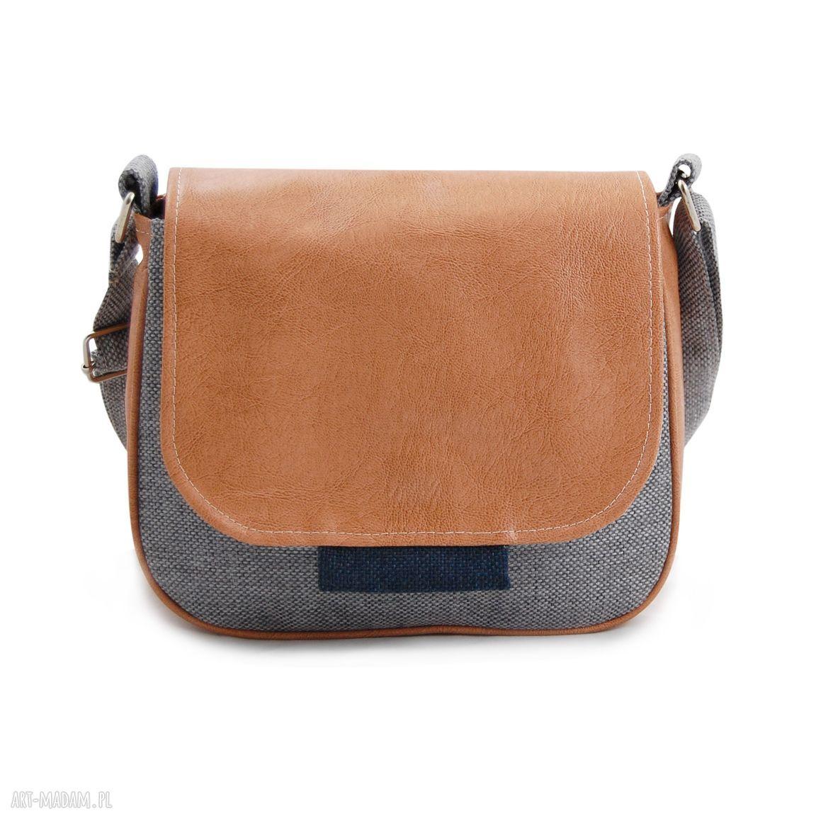 niebieskie mini modna bambi - mała torebka beż, szarość