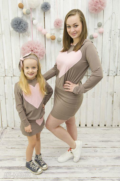 handmade ubranka komplet mama i córka spódnica plus bluza