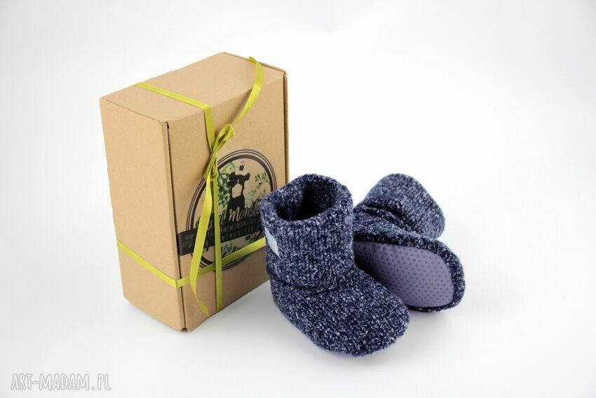 trendy buciki miękkie bambosze / hand made wełna