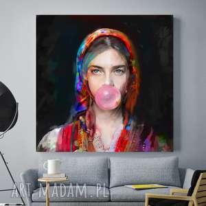 Obraz na płótnie Lady Folk 3 , obrazy, folk, dekoracje, plakaty, nowoczesny, salonu