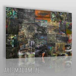 obraz na płótnie - miasto kolaż 120x80 cm 34301, miasto, kolaż, prostokąty, miejski