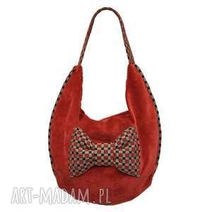 446d6a5ea7288 ... plenty more 20-0008 czerwona torebka worek z efektowną kokardą finch