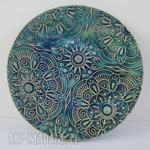 ceramika etniczny mały talerzyk na drobnostki, talerzyk, mydelniczka, etno