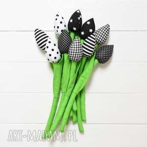 unikalny, bukiet tulipanów, tulipany, tulipan, bukiet, kwiaty, tulipany z materiału