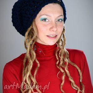 DreadLove Mono 06, czapka, dredy, dready, ciepła, zima, granat