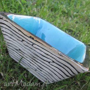 głębia oceanu, miseczka, miska, nowoczesna, prezent, turkusowa ceramika