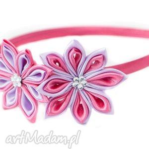 bukiet-pasji opaska dla dziewczynki z kwiatuszkiem - dziewczynka, opaski