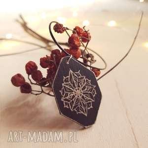 Drewniany wisior grawerowany, moonlight minimalist art, mandala, wisior, czerń