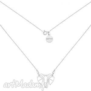 srebrny naszyjnik ze słoniem, modny, kobiecy, srebro, geometryczny