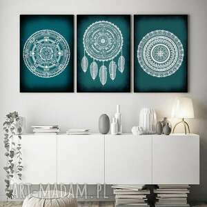 zestaw 3 prac a3, mandala, mandale, plakat, sztuka, ilustracje, obraz